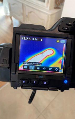 Wykrywanie wycieków - badanie kamerą termowizyjną